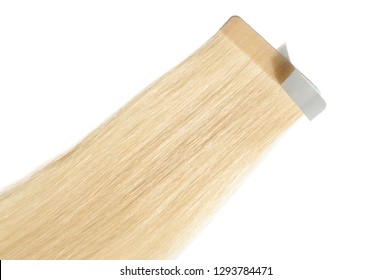Tape in remy adhesive skin weft straight blonde human hair extensions