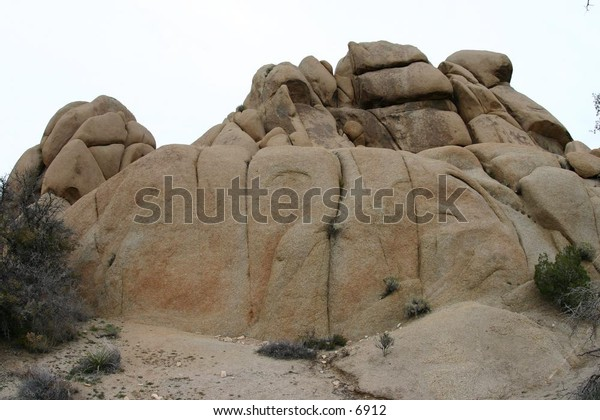 tapering rocks atop a hill