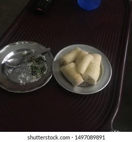 Tapioca cassava plant taste better with salt & chilli