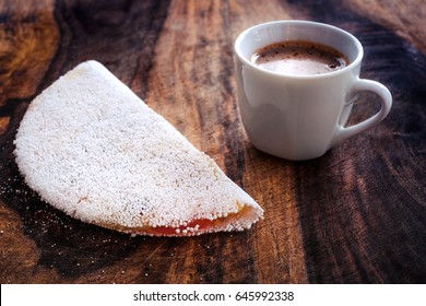 Tapioca and Coffee - Wood Background