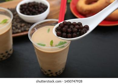 Tapioca tea and tapioca pearl