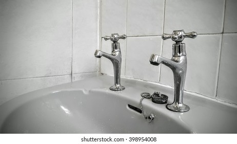 Taps in an old bathroom