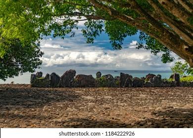 Taputapuatea Marae of Raiatea French polynesia the most important archeological site unesco world heritage
