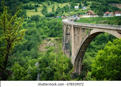Tara Bridge - the biggest vehicular concrete arch bridge in Europe