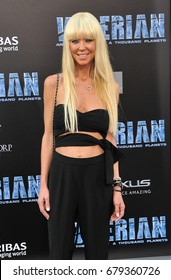 Tara Reid at the World premiere of 'Valerian And The City Of A Thousand Planets' held at the TCL Chinese Theatre in Hollywood, USA on July 17, 2017.