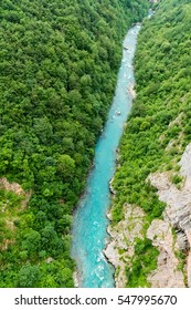 Tara river canyon in Montenegro