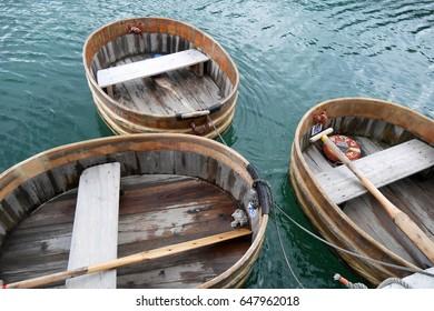 Tarai bune tub boat in Sado Island Niigata Japan