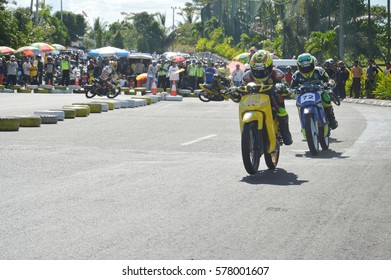 TARAKAN, INDONESIA. 19th November 2016. Championship road race inaugural round in the non-permanent circuit Datu Adil Tarakan Stadiuml