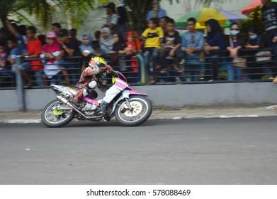 TARAKAN, INDONESIA. 19th November 2016. Championship road race inaugural round in the non-permanent circuit Datu Adil Tarakan Stadiuml