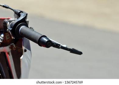 TARAKAN, INDONESIA. 20th May 2017. detailed of racing bike