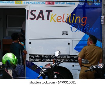 Tarakan/Indonesia-09092019: SAMSAT / One-stop Administration Services Office, is an administration system established to expedite and accelerate the service of public interests.