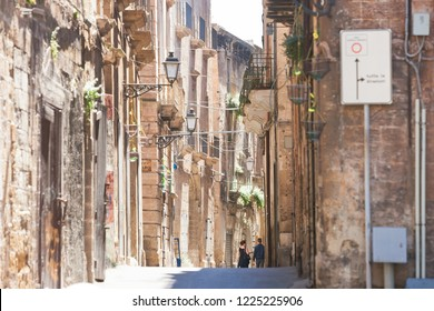 Taranto, Apulia, Italy - Middle aged architecture in the old town of Taranto