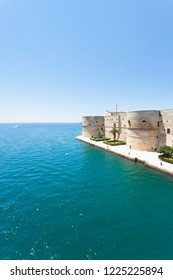 Taranto, Apulia, Italy - The old stronghold at the coastline of Taranto