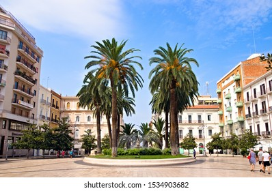 Taranto, Italy - October 2, 2019: Maria Immacolata square is one of the main squares in the center of the modern town