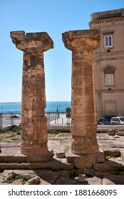 Taranto, Italy - September 06, 2020 : View of the Temple of Poseidon