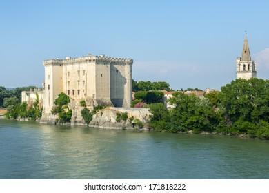Tarascon (Bouches-du-Rhone, Provence-Alpes-Cote-d'Azur, France) - The medieval castle on the river