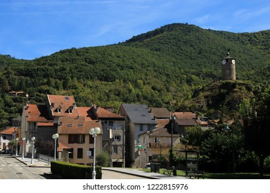 Tarascon-sur-Ariege France-September 22 2018:Small city in French Pyrenees