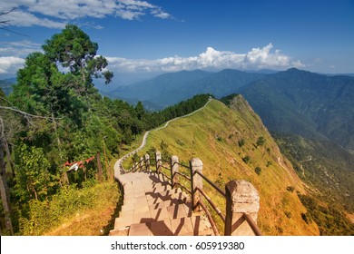 """Tarey Bhir Point is a favourite tourist spot.The word """"Bhir"""" means """"cliff"""" in the local Nepal language -- about 10,000 foot-long path, a breathtaking viewpoint at the edge, people get spectacular views."""