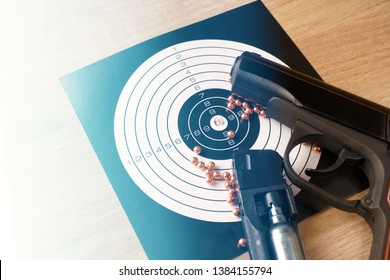 target for air weapons close-up. round shells for air gun