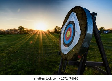 Target for archery in Masiach, Bavaria