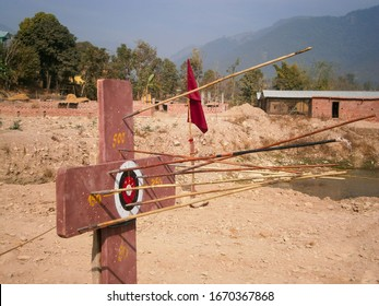 Target for archery in Nepal. Arrow Target For Archery Sports Texture Background