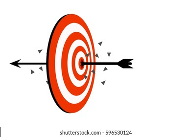 Target arrow icon, target symbol concept of goal, business aim, success marketing symbol, exceed target, illustrator