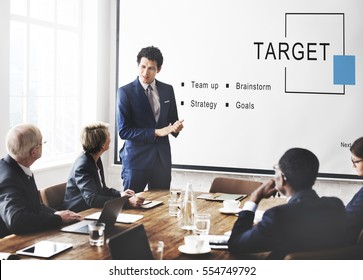 Target Business Startup Strategy Goals Concept