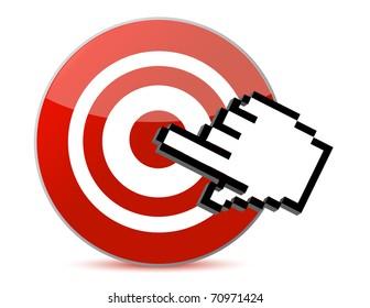 target and cursor illustration design