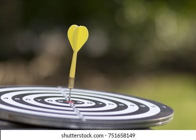 Target dart with arrow green background  ,metaphor to target marketing concept.