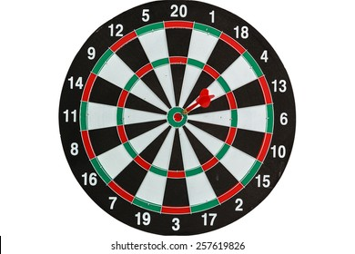 target darts player meditation and visualization on white background
