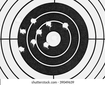 Target with holes - sport background