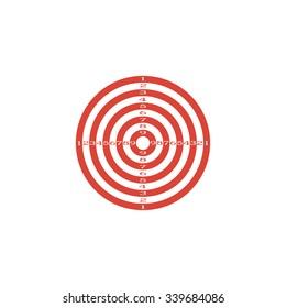 target icon. Flat design style