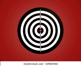 A target isolated against a red background