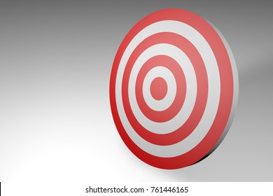 Target isolated on white background.