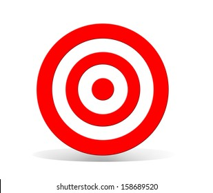 Target isolated on white made  in 2d software