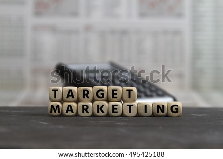 target marketing built with wooden letters