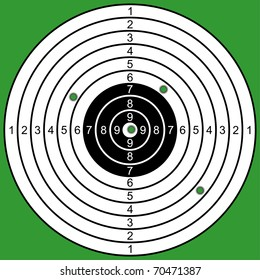 Target on a green background. Raked Target. EPS version is available as ID 68472355