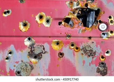 Target Practice Car Door Detail