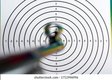 Target shooting with an air pistol