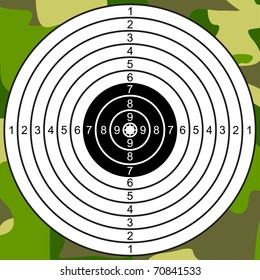 Target for Shooting on a Camouflage Background. Not Raked Target. EPS version is available as ID 68206045.