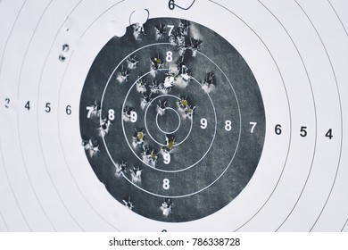 Target with shots