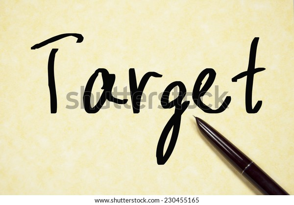 target word write on paper