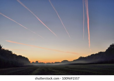 targets in morning sky