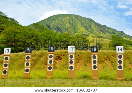 Targets for a shooting
