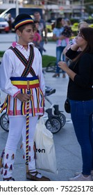 Targoviste, Romania - September 05 2017: International Folklore Festival