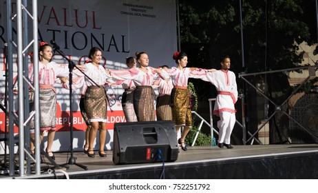 Targoviste, Romania - September 05 2017: International Folklore Festival