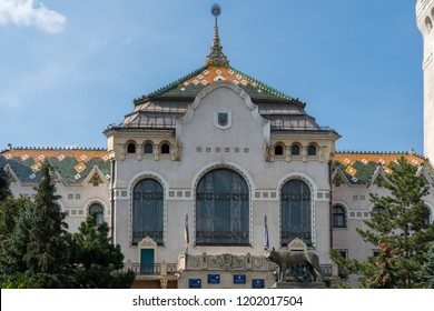 TARGU MURES, TRANSYLVANIA/ROMANIA - SEPTEMBER 17 : The Prefecture Tower in Targu Mures Transylvania Romania on September 17, 2018