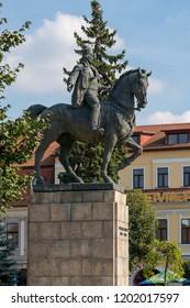 TARGU MURES, TRANSYLVANIA/ROMANIA - SEPTEMBER 17 : The Statue of Avram Iancu in Targu Mures Transylvania Romania on September 17, 2018