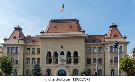 TARGU MURES, TRANSYLVANIA/ROMANIA - SEPTEMBER 17 : The  Palace of Culture in Targu Mures Transylvania Romania on September 17, 2018