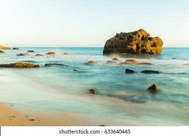 Tarifa beach. Iimage with long exposure